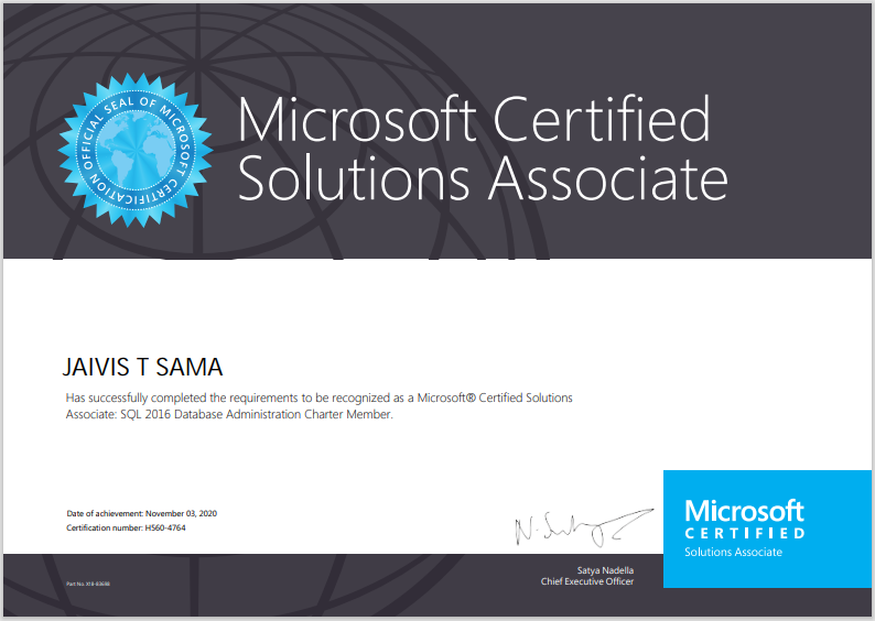 image showing certificate